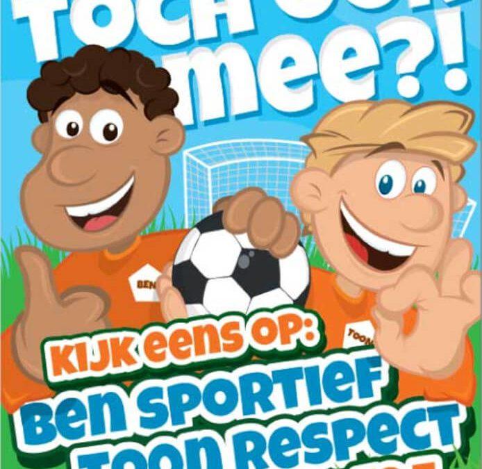 Op 21 en 22 september aftrapweekend van de campagne Ben Sportief en Toon Respect!